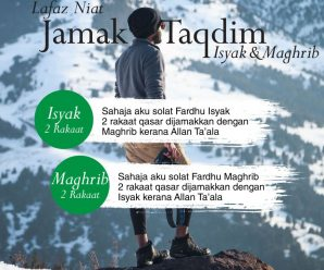 Lafaz Niat Solat Jamak Taqdim Dan Jamak Ta'Khir Ketika Travel